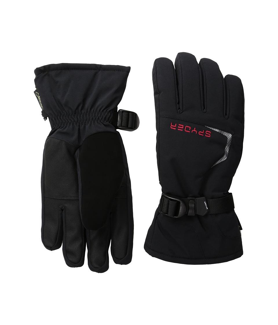 Spyder - Traverse Gore-Tex Ski Glove (Black/Red) Ski Gloves