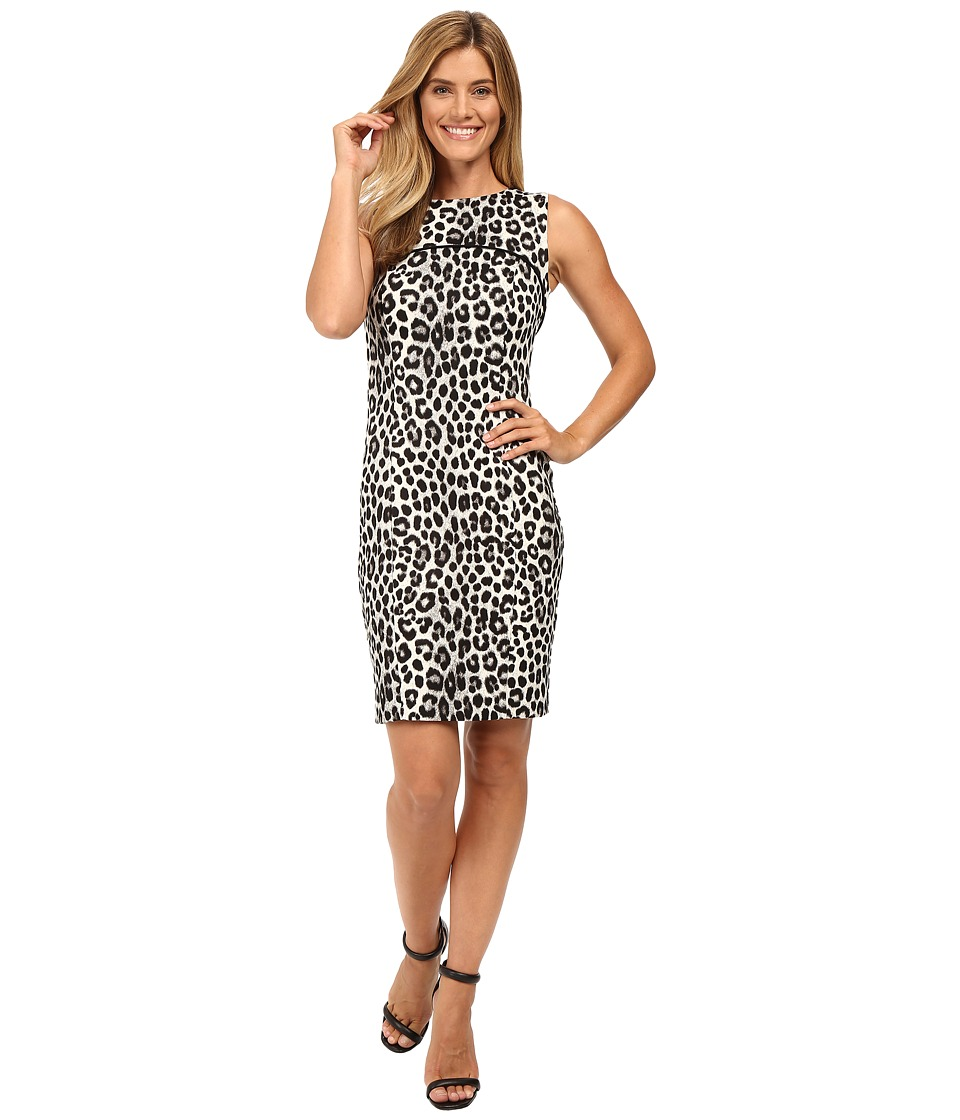 MICHAEL Michael Kors - Sleeveless Cheetah Yoke Dress (Black) Women's Dress