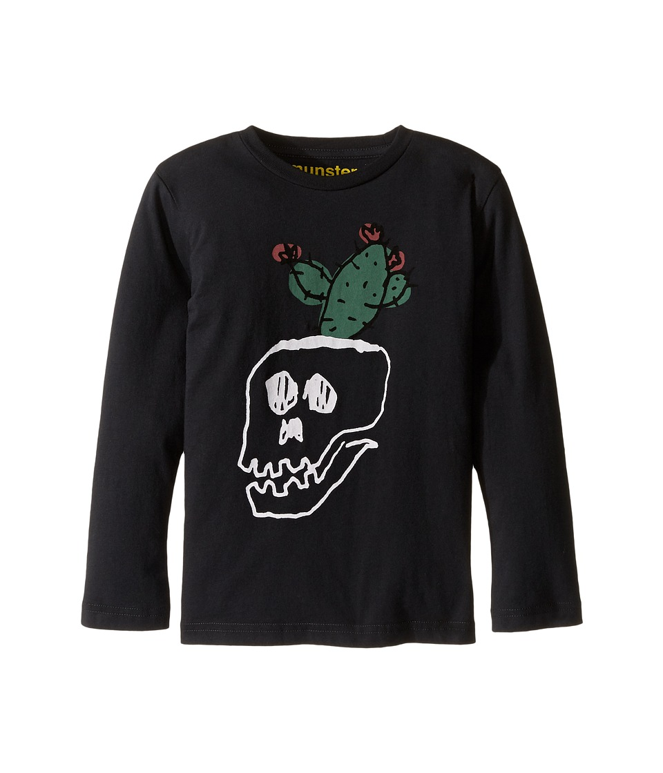 Munster Kids - Pot Plant Long Sleeve T-Shirt (Toddler/Little Kids/Big Kids) (Soft Black) Boy's T Shirt