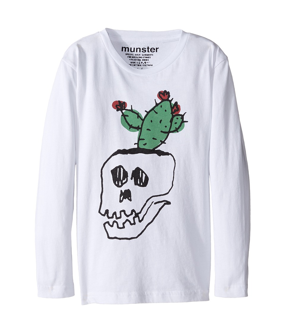 Munster Kids - Pot Plant Long Sleeve T-Shirt (Toddler/Little Kids/Big Kids) (White) Boy's T Shirt