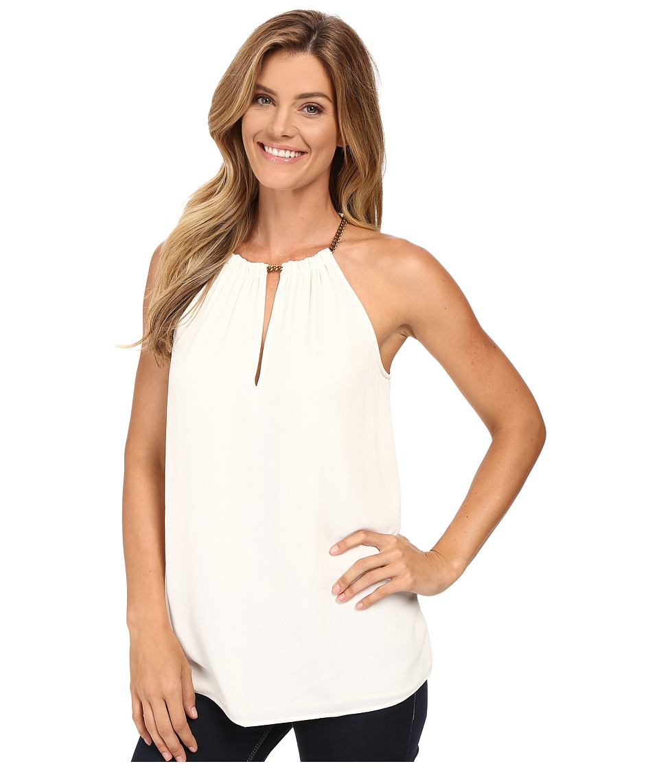 MICHAEL Michael Kors - Small Chain Neck Sleeveless Top (Cream) Women's Sleeveless