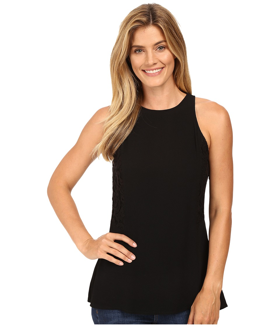 MICHAEL Michael Kors - Sleeveless Lace Panel Top (Black) Women's Clothing