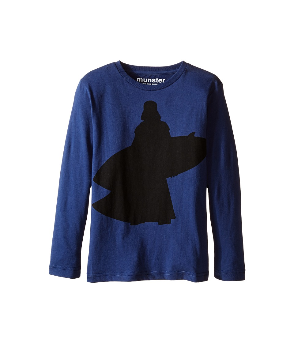 Munster Kids - Vader Long Sleeve T-Shirt (Toddler/Little Kids/Big Kids) (Navy) Boy's T Shirt