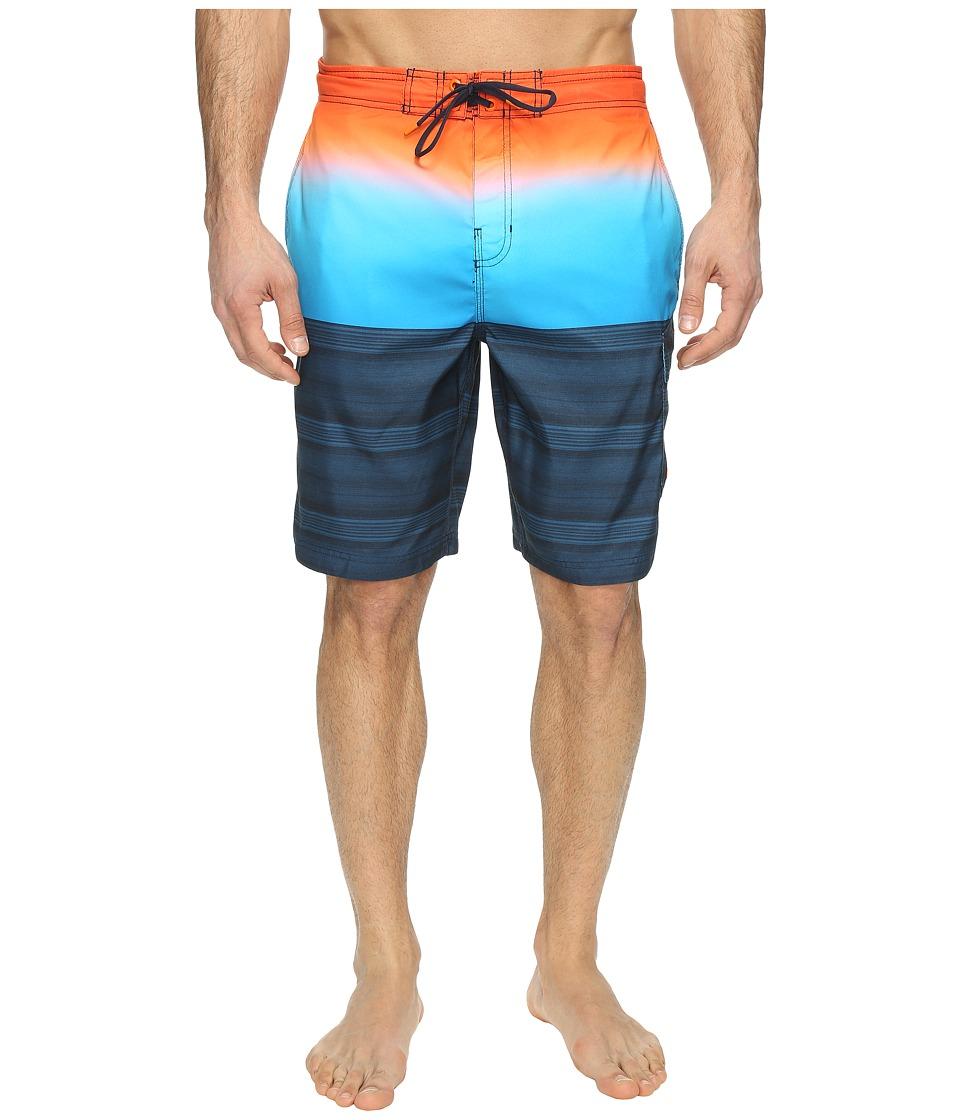 Speedo - Surging Stripe E-Board (New Navy) Men's Swimwear