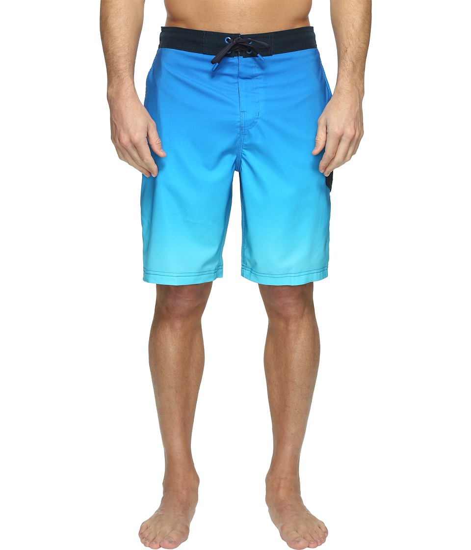 Speedo - Engineered Ombre E-Board (Island Blue) Men's Swimwear