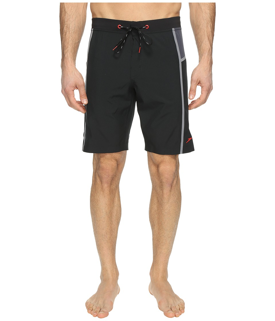 Speedo - Stretchtech Bonded Boardshorts (Speedo Black) Men's Swimwear