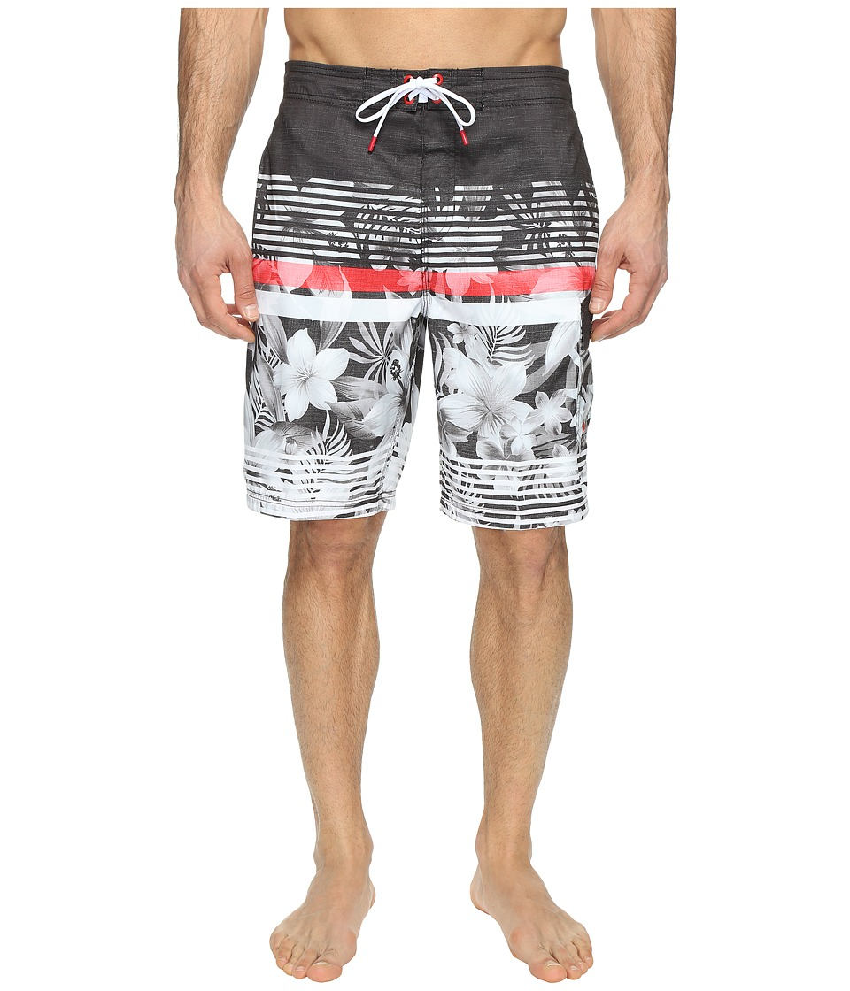 Speedo - Underline Floral E-Board (Speedo Black) Men's Swimwear