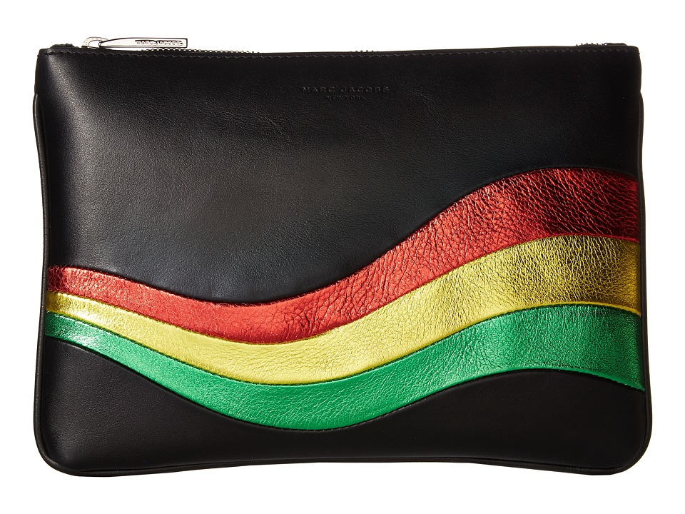 Marc Jacobs - Metallic Wave Pouch (Black) Travel Pouch