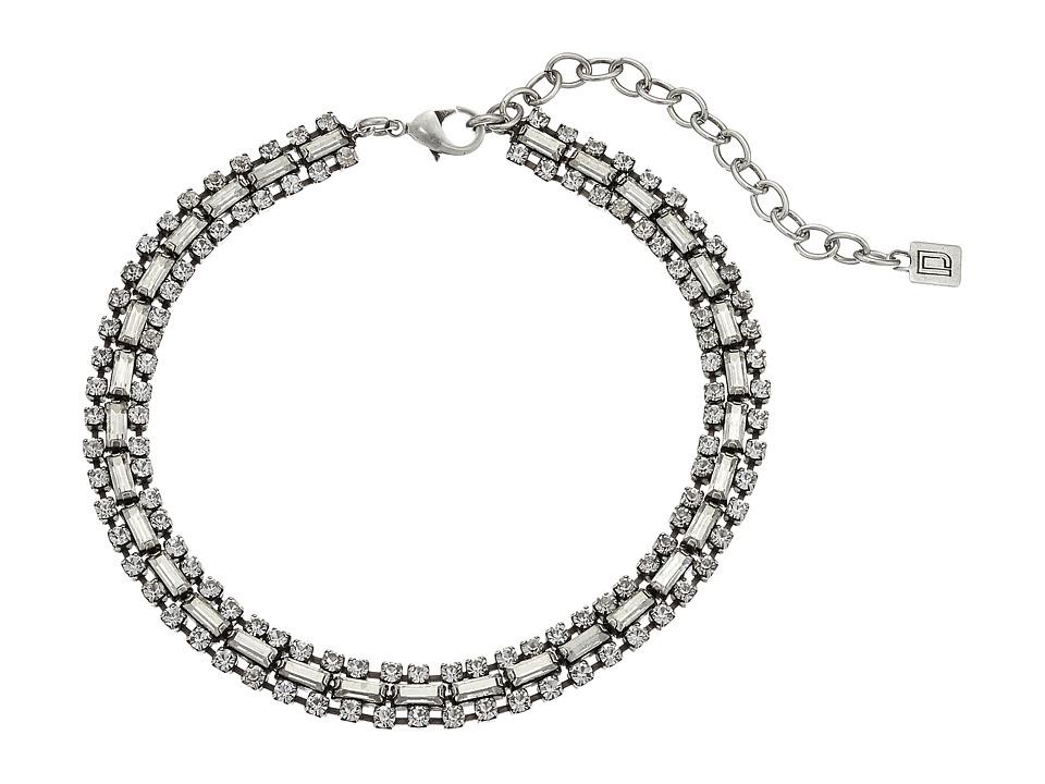 DANNIJO - JIHAN Choker Necklace (Ox Silver/Clear) Necklace