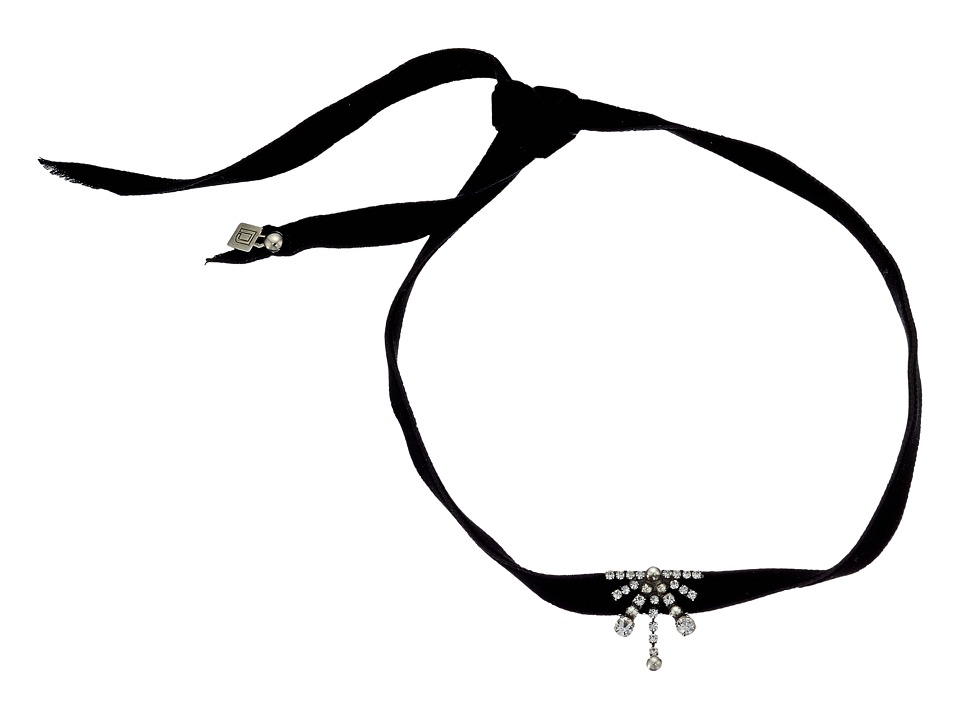 DANNIJO - DENA Choker Necklace (Ox Silver/Clear) Necklace