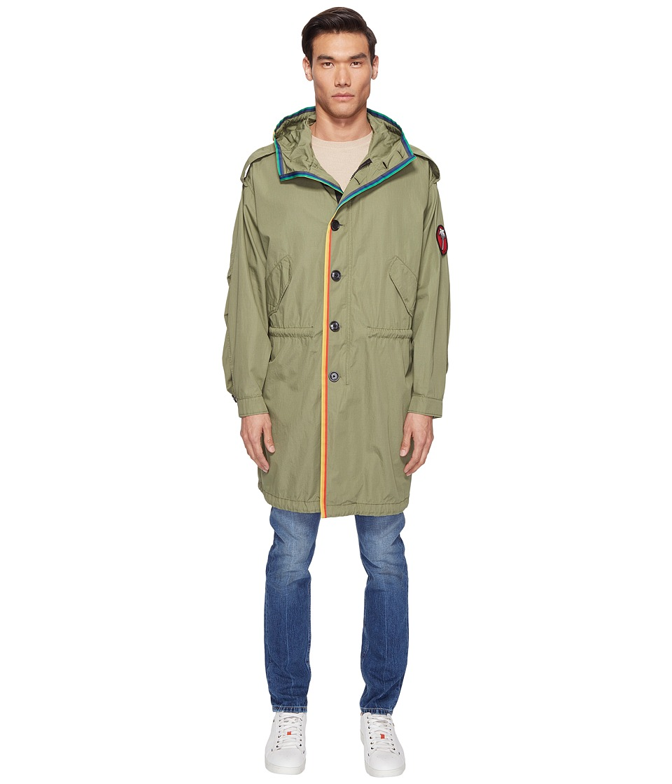 Marc Jacobs - Oversized Rip Stop Parka (Olive) Men's Clothing