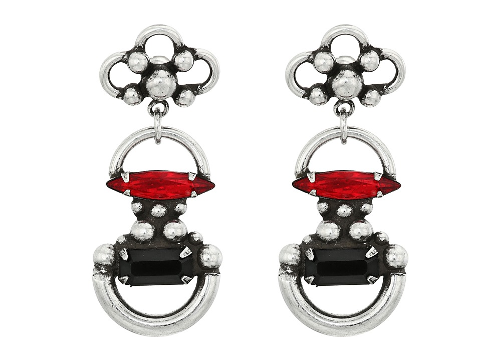 DANNIJO - BOMBAY Earrings (Ox Silver/Multi) Earring