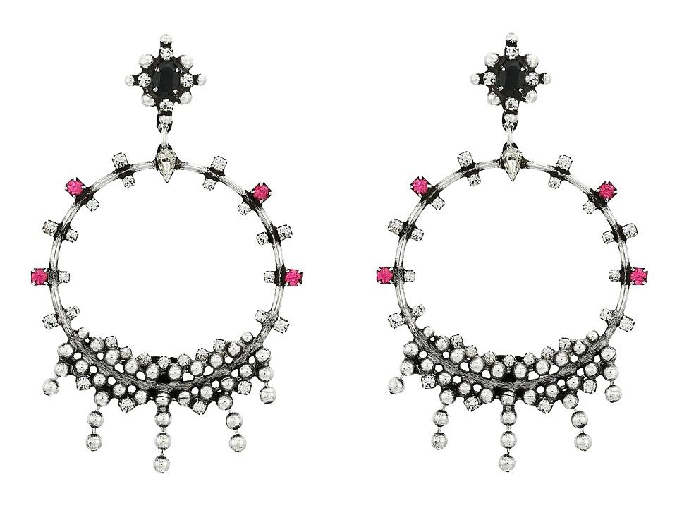 DANNIJO - LAUREN Earrings (Ox Silver/Multi) Earring