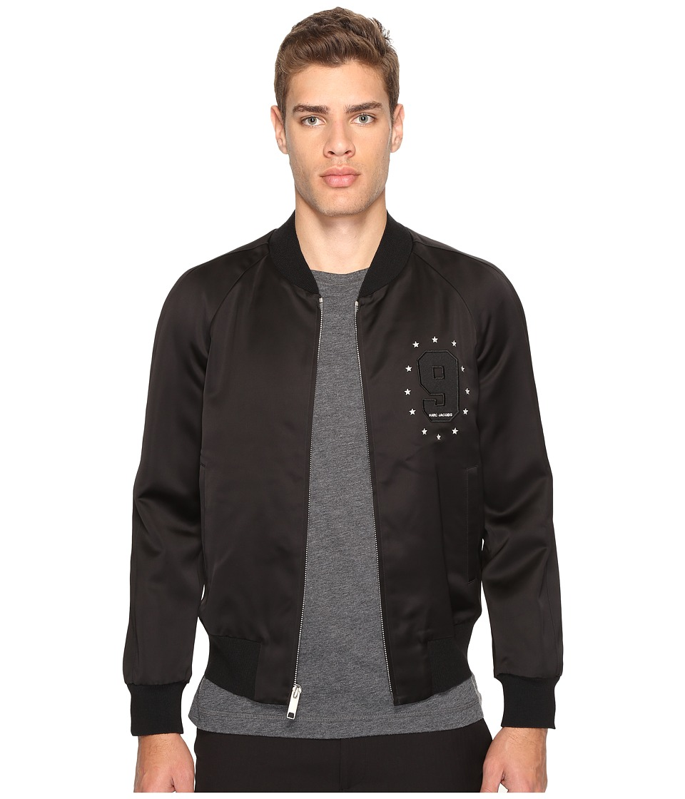 Marc Jacobs - Satin Suiting Bomber (Jet Black) Men's Coat