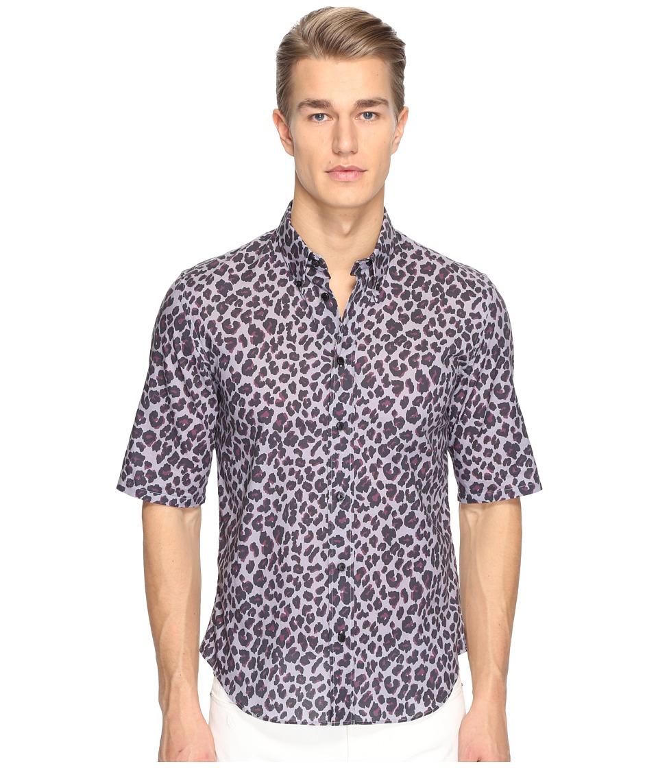 Marc Jacobs - Lenny Leopard Slim Fit Shirt (Silver Sconce) Men's Clothing