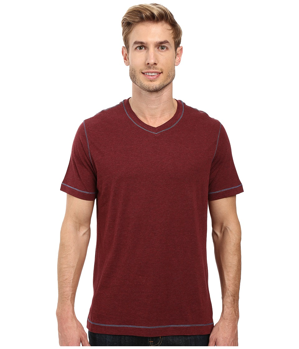 Robert Graham Traveler Tee (Heather Wine) Men