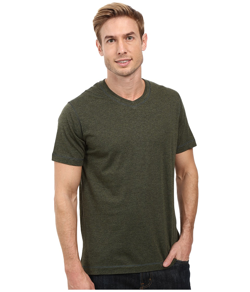 Robert Graham Traveler Tee (Heather Forest) Men