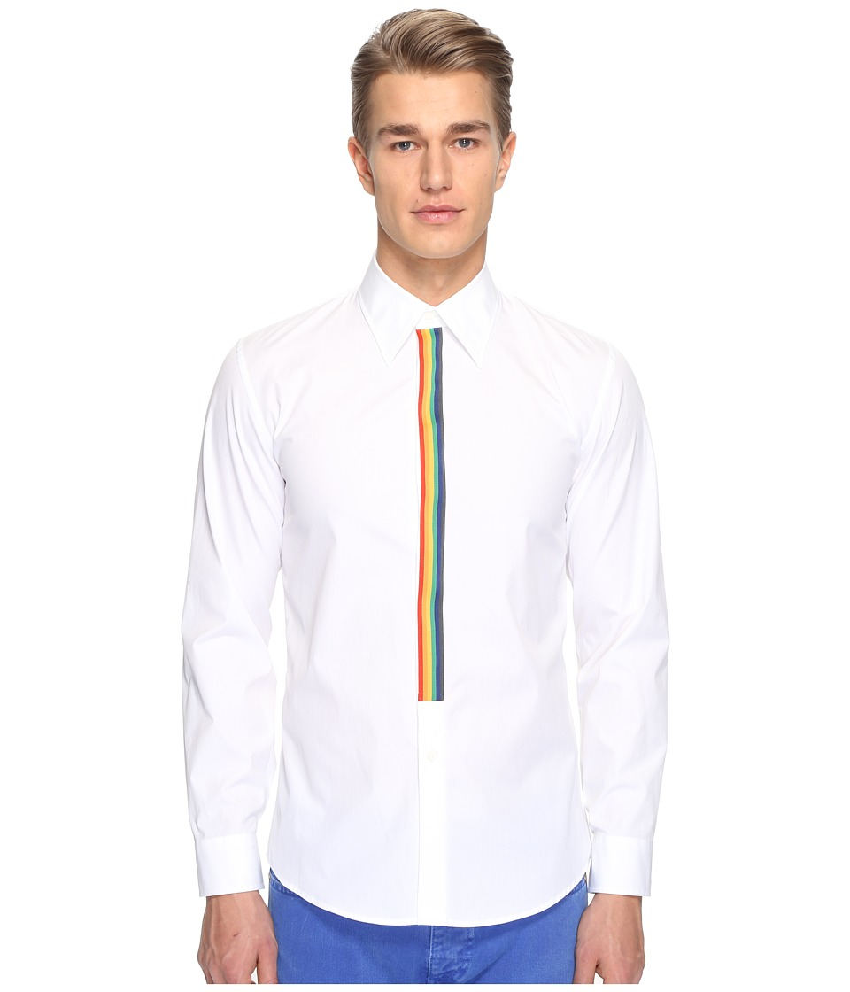 Marc Jacobs - Slim Fit Comfort Poplin Shirt (White) Men's Clothing