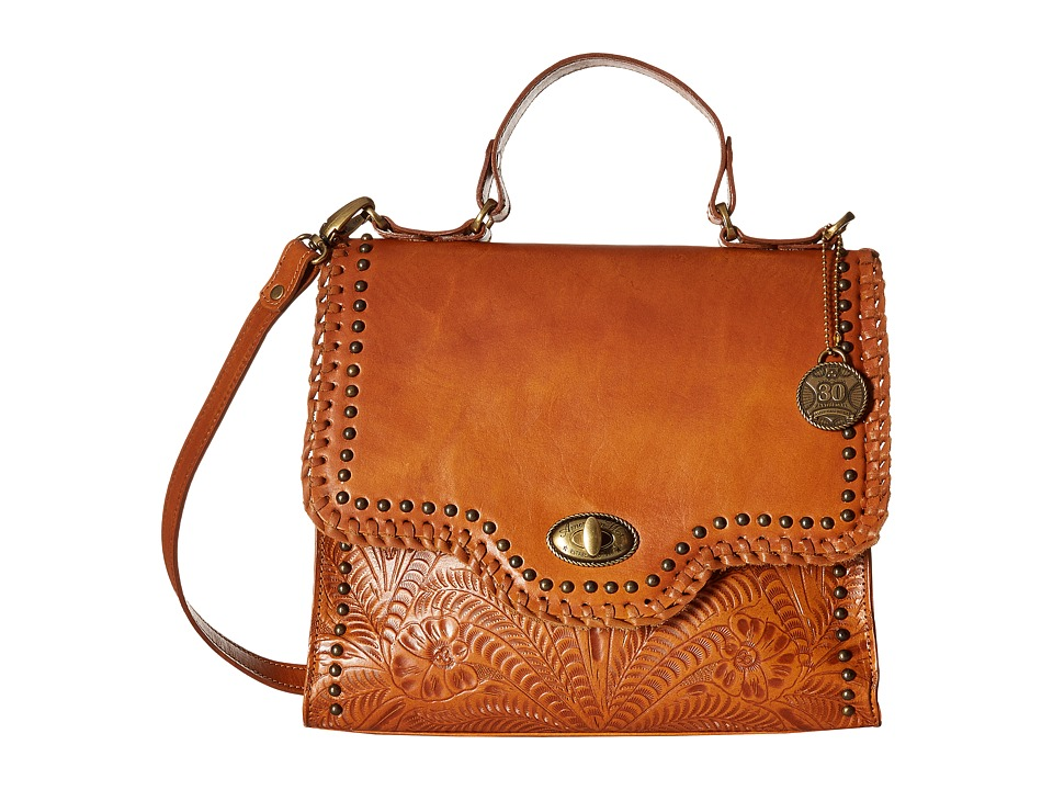 American West - Hidalgo Top-Handle Convertible Flap Bag (Golden Tan) Top-handle Handbags
