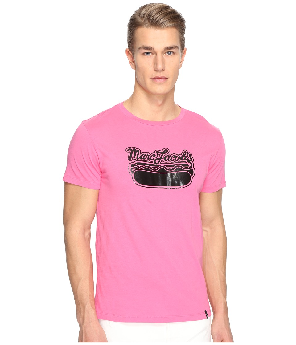 Marc Jacobs - Hot Dog T-Shirt (Shocking Pink) Men's Clothing