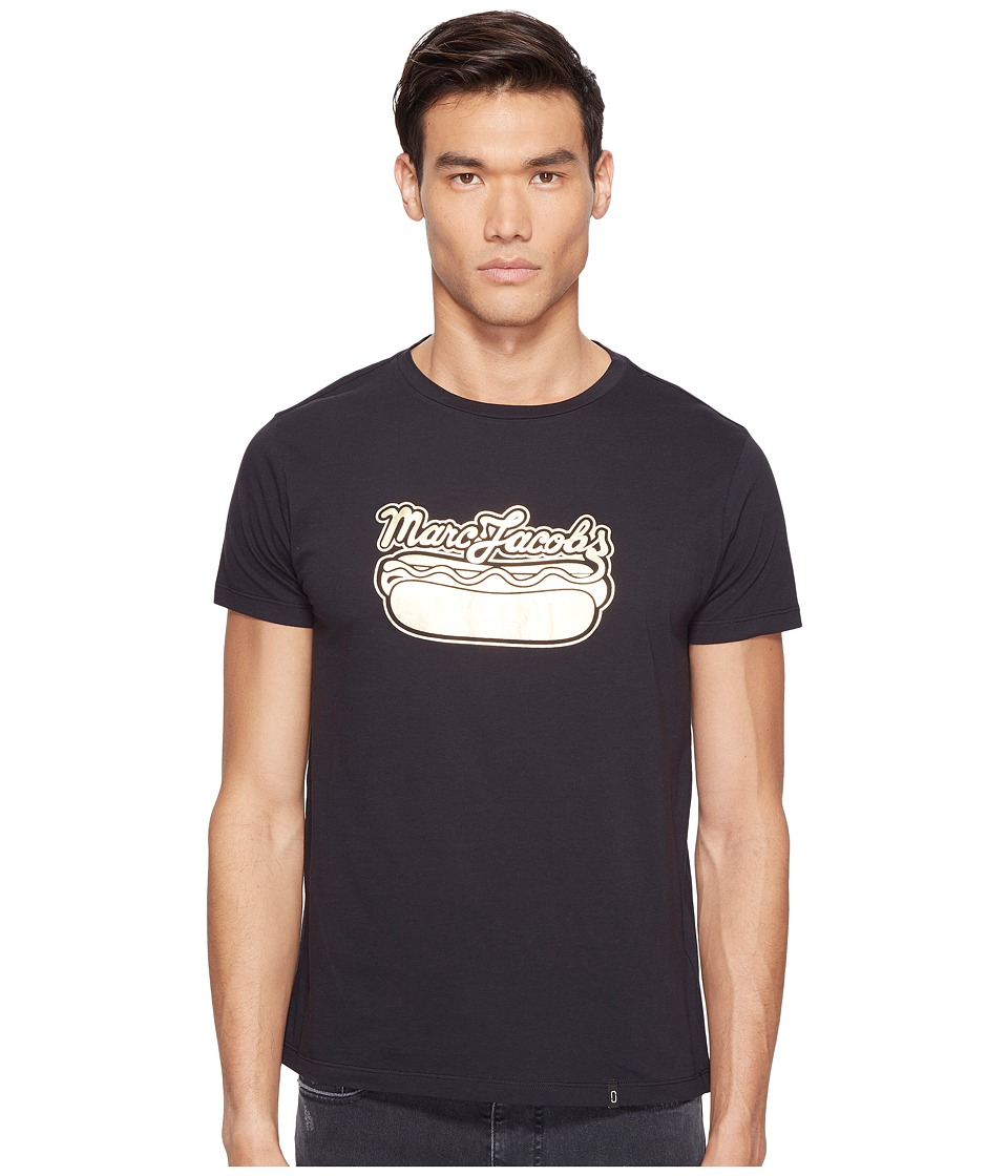 Marc Jacobs - Hot Dog T-Shirt (Jet Black) Men's Clothing
