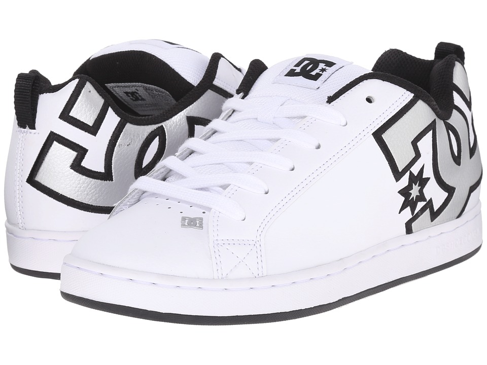 DC - Court Graffik W (White/Metallic Silver) Women's Skate Shoes