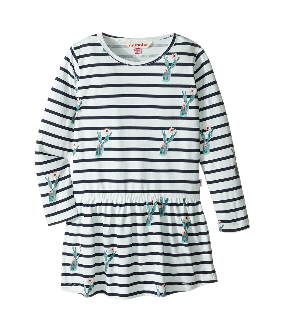 Munster Kids - Ouch Dress (Toddler/Little Kids/Big Kids) (Navy Stripe) Girl's Dress