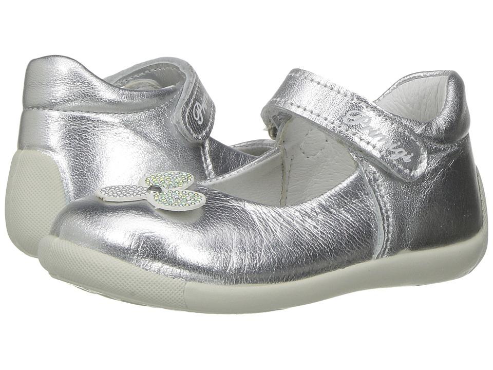 Primigi Kids - PSU 7517 (Infant/Toddler) (Silver) Girl's Shoes