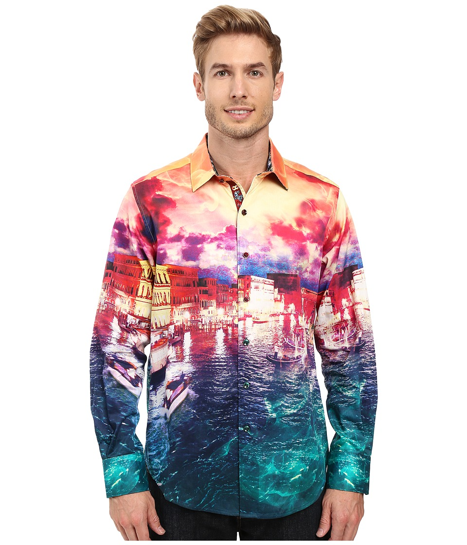 Robert Graham - Venetian Lagoon Long Sleeve Woven Shirt (Multi) Men's Long Sleeve Button Up