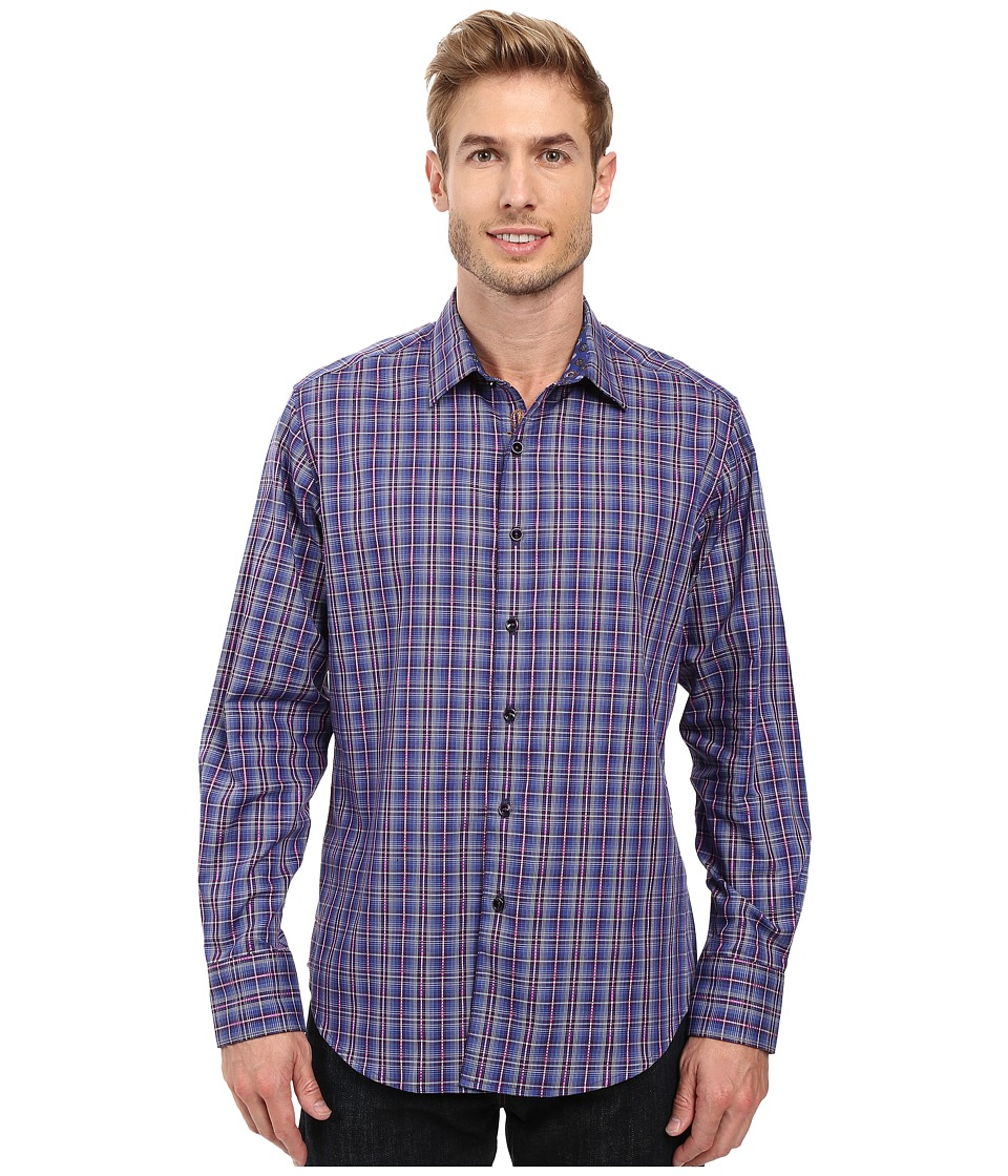 Robert Graham - Lando Long Sleeve Woven Shirt (Blue) Men's Long Sleeve Button Up