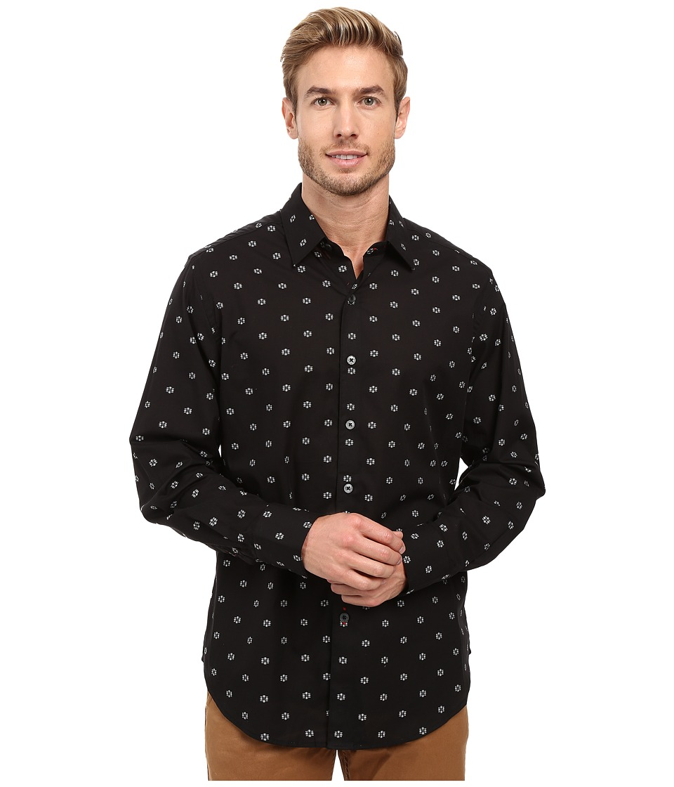 Robert Graham - Inland Empire Long Sleeve Woven Shirt (Black) Men's Long Sleeve Button Up