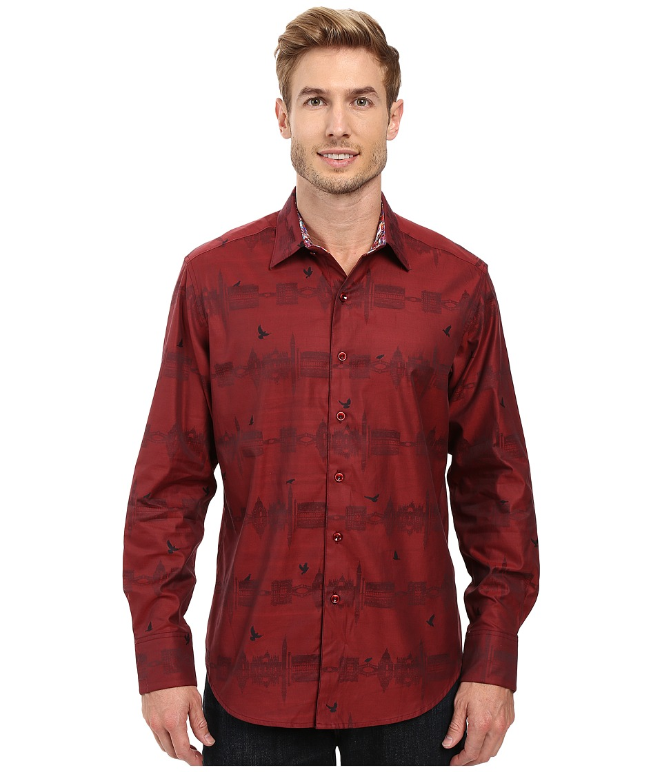 Robert Graham - Floating City Long Sleeve Woven Shirt (Brick) Men's Long Sleeve Button Up