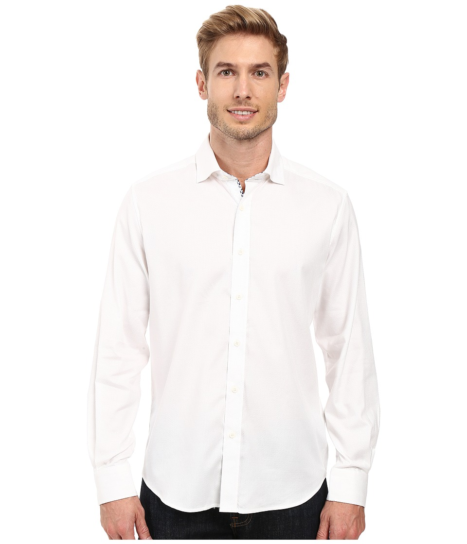 Robert Graham - Baylor Long Sleeve Woven Shirt (White) Men's Long Sleeve Button Up