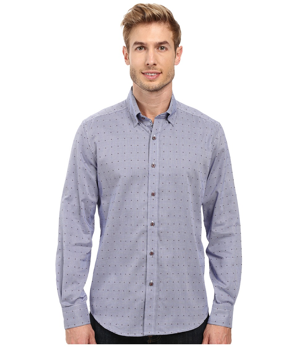 Robert Graham - Alix Long Sleeve Woven Shirt (Navy) Men's Long Sleeve Button Up