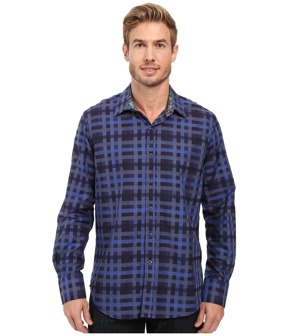 Robert Graham - Lido Long Sleeve Woven Shirt (Blue) Men's Long Sleeve Button Up