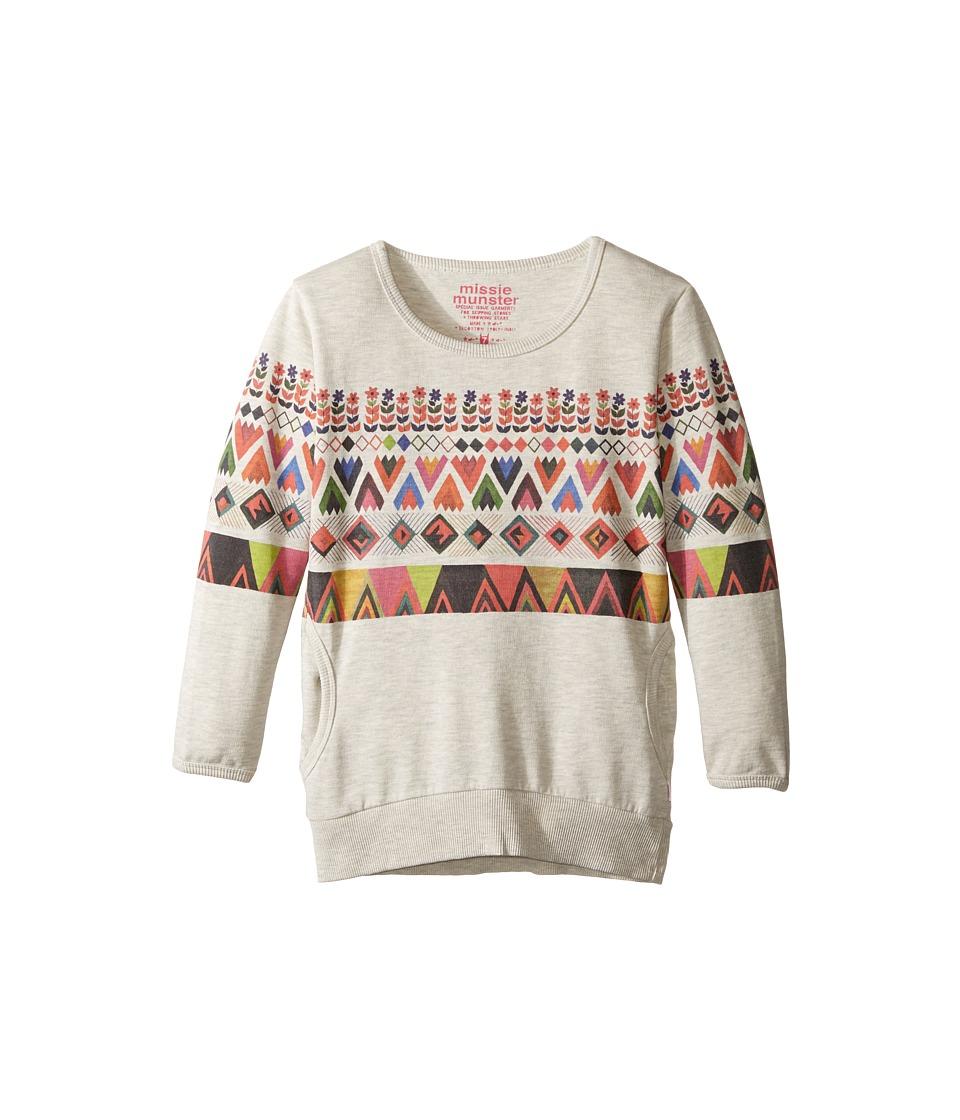 Munster Kids - Ancient Sweatshirt (Toddler/Little Kids/Big Kids) (Grey Marle) Girl's Sweatshirt
