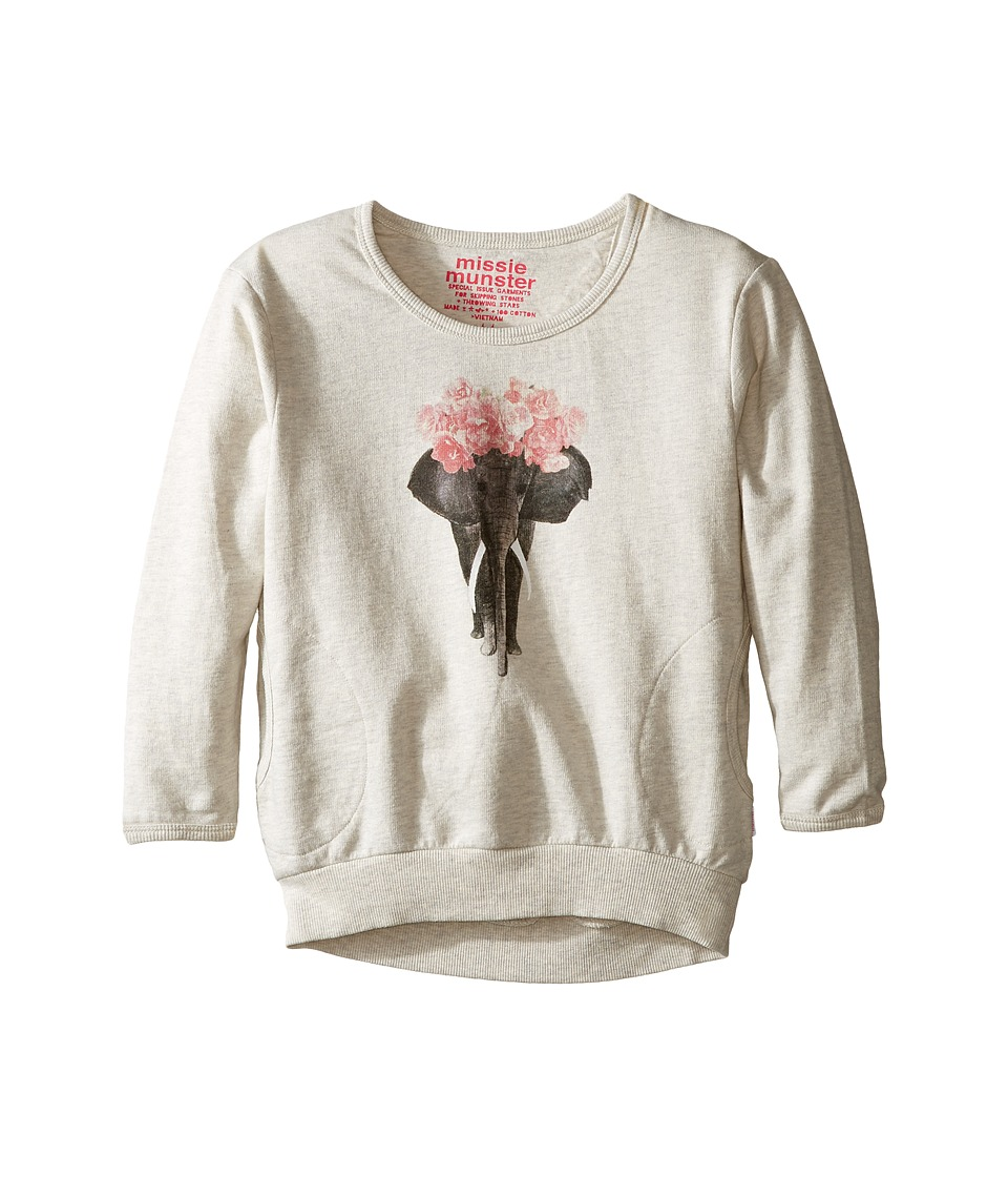 Munster Kids - Eliflower Sweatshirt (Toddler/Little Kids/Big Kids) (Oatmeal Marle) Girl's Sweatshirt