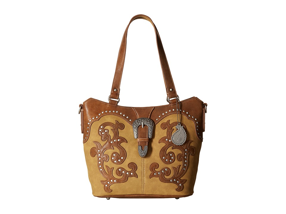 American West - Shady Cove Convertible Tote (Honey/Golden Tan) Tote Handbags