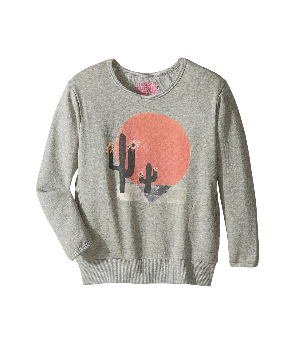 Munster Kids - Sunrise Fleece Sweatshirt (Toddler/Little Kids/Big Kids) (Grey Marle) Girl's Sweatshirt