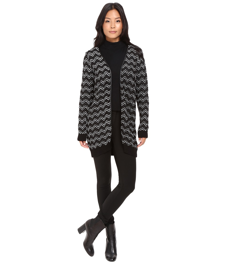 Mavi Jeans - Jacquard Cardigan (Black) Women's Sweater