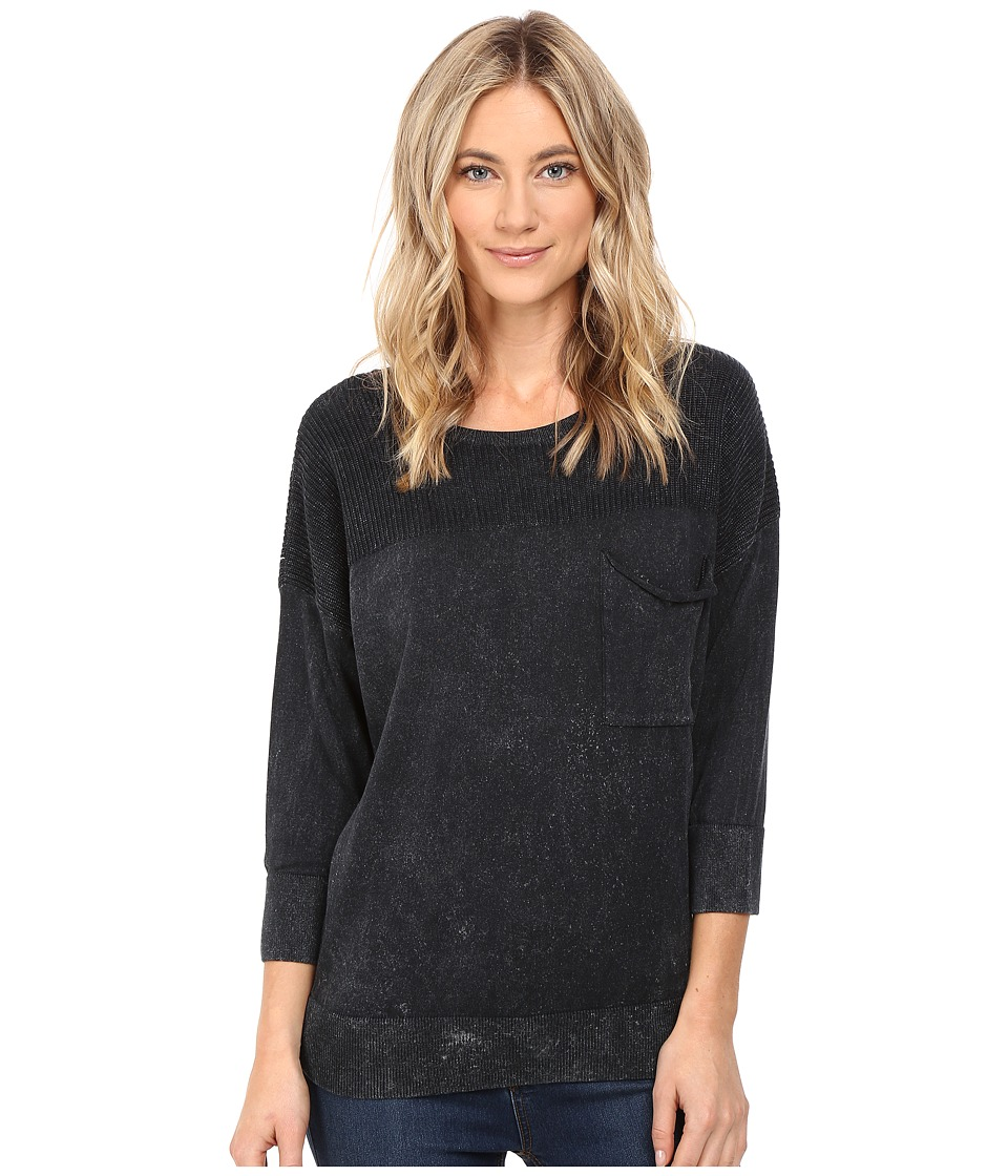 Mavi Jeans - 3/4 Sleeve Sweater (Black) Women's Sweater