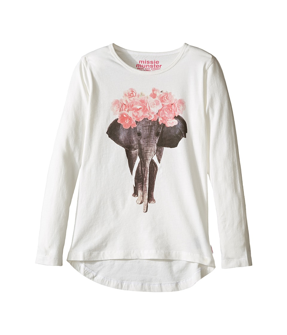 Munster Kids - Ivory Long Sleeve T-Shirt (Toddler/Little Kids/Big Kids) (Cream) Girl's T Shirt