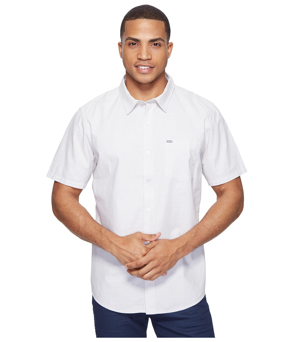 Hurley - One Only S/S Woven Shirt (Light Bone) Men's Short Sleeve Button Up