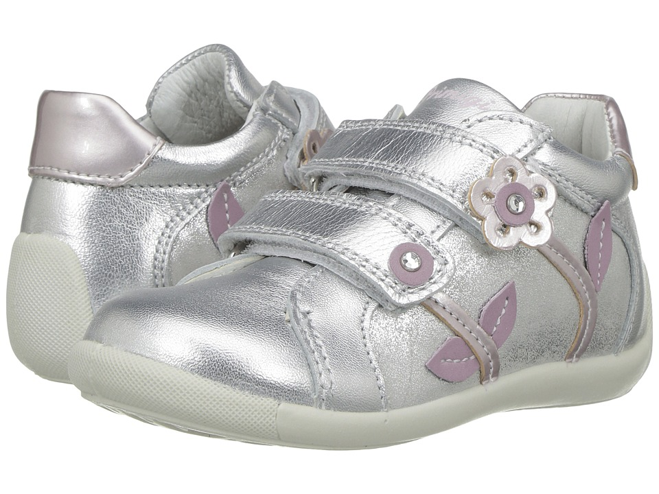 Primigi Kids - PSU 7521 (Infant/Toddler) (Silver) Girl's Shoes