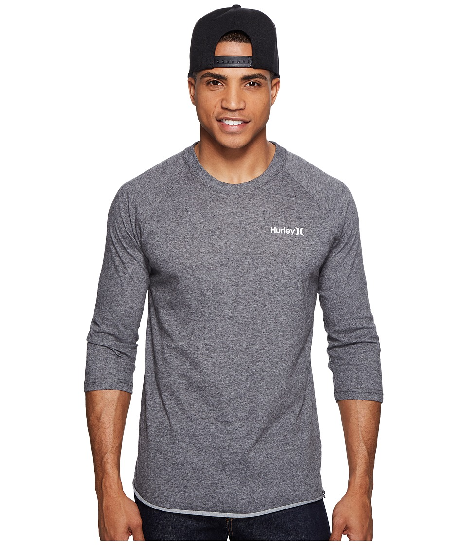 Hurley - One and Only 3/4 Dri-Fit Raglan (Charcoal) Men's Clothing