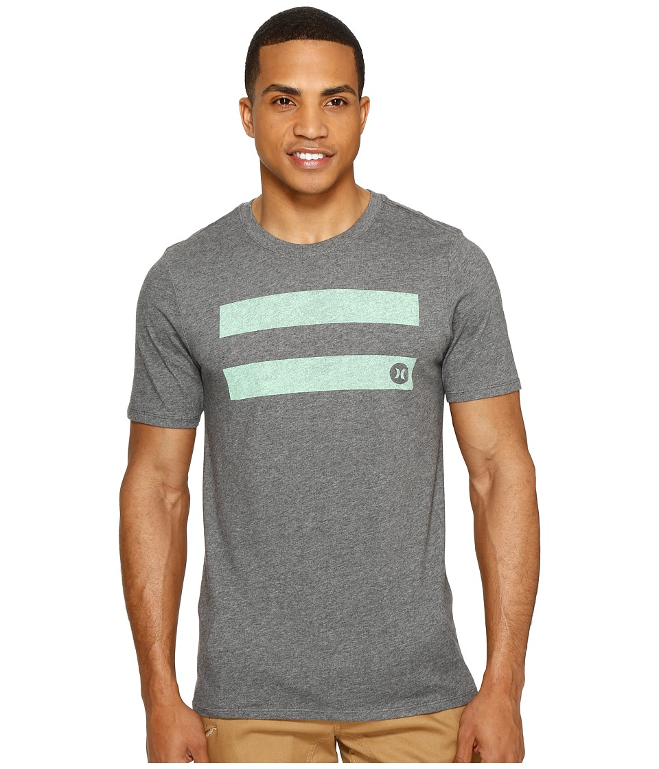 Hurley - Horizontal Dri-Fit Tee (Charcoal) Men's T Shirt