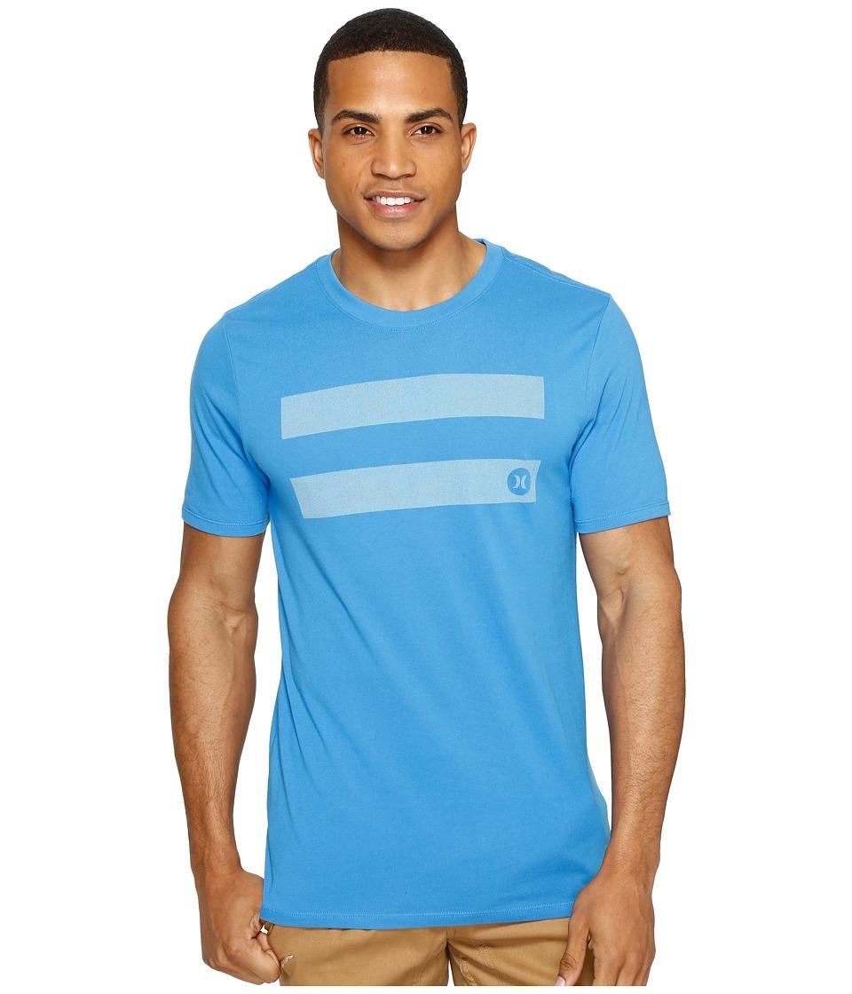 Hurley - Horizontal Dri-Fit Tee (Light Photo Blue) Men's T Shirt