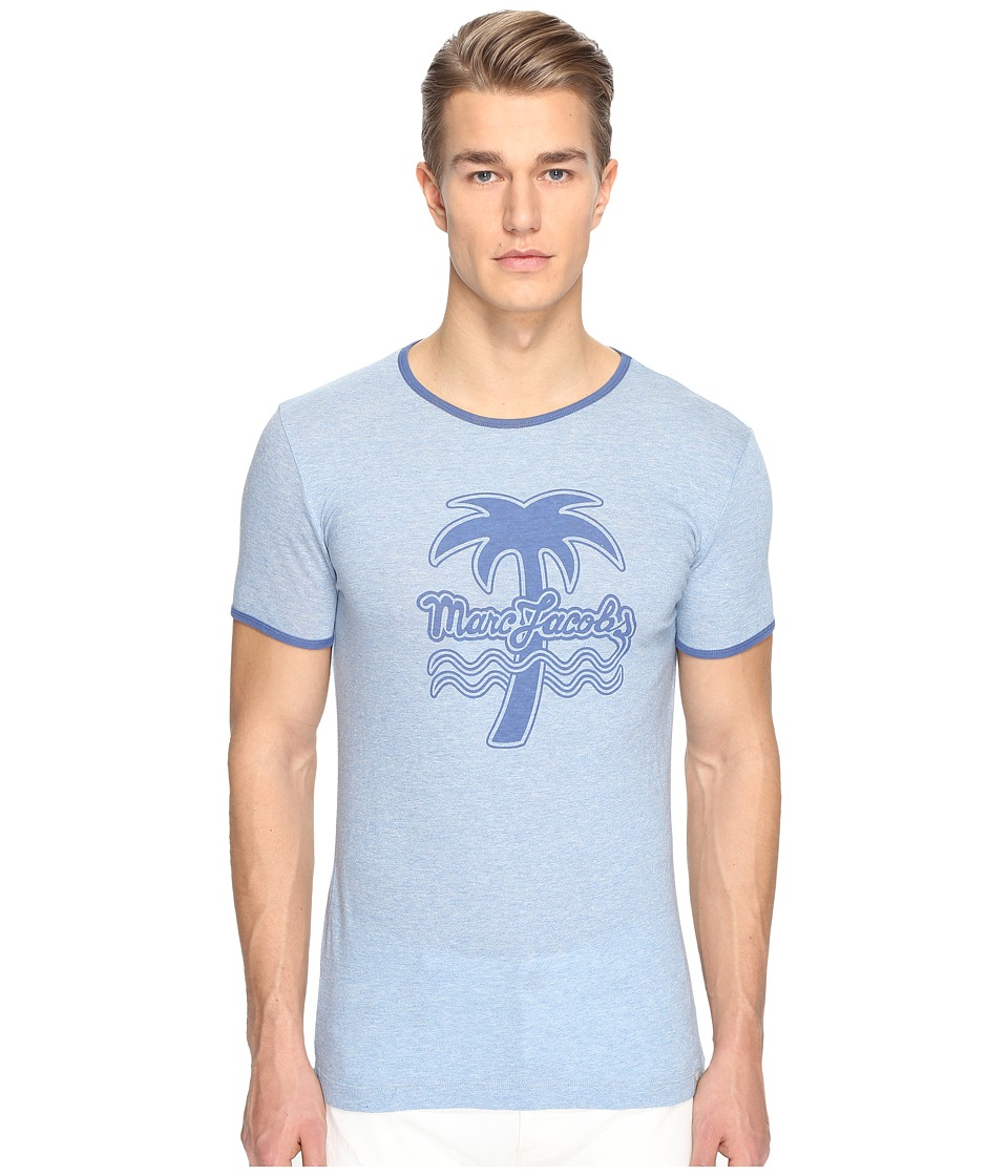 Marc Jacobs - Logo T-Shirt (Blue Melange) Men's T Shirt
