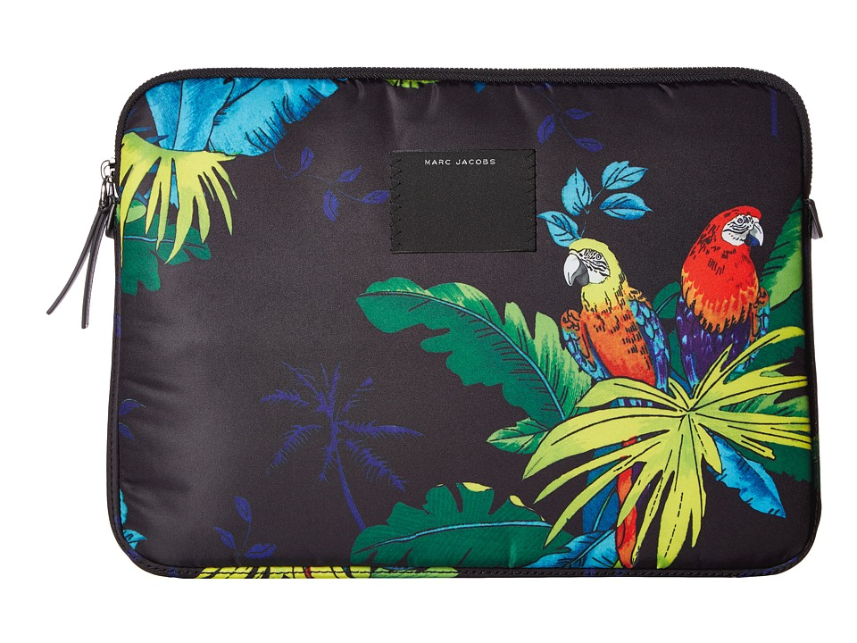 Marc Jacobs - 13 Byot Parrot Computer Case (Black Multi) Wallet