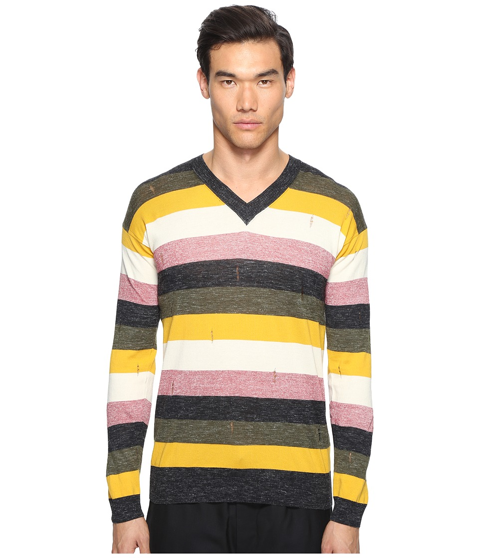 Marc Jacobs - Multistripe Sweater (Multi) Men's Sweater